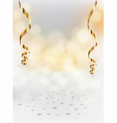 festive blurred background and serpentine vector image