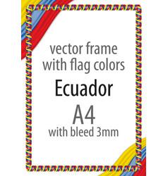 Flag v12 ecuador vector