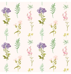 Floral Background - Seamless pattern vector image vector image