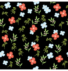 floral pattern dark vector image
