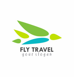 fly travel logo vector image