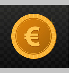 gold coins on transparent background game coins vector image