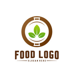 healthy food logo concept template nature food vector image
