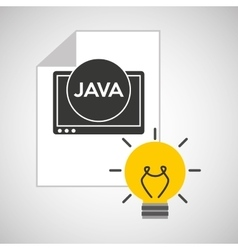 idea code web program java vector image