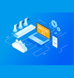 industry 40 internet of things vector image