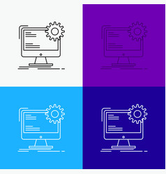 internet layout page site static icon over vector image