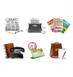 journalist and press icons vector image vector image