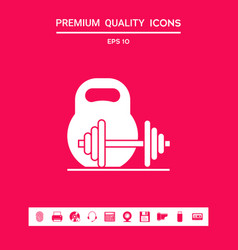 Kettlebell and barbell icon graphic elements for vector