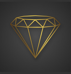 Luxury gold diamond isolated line logo for your vector