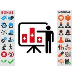Medical Public Report Icon vector