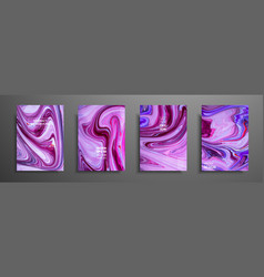 mixture of acrylic paints liquid marble texture vector image