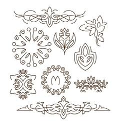 Monogramsline design elements for logos frames vector