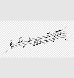 music notes staff for jazz or classical concert vector image