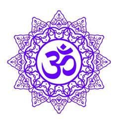 om aum symbol vector image