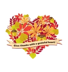 Poster with quote - give thanks a grateful vector