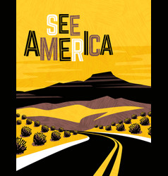 retro travel poster design southwest usa vector image