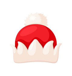 santa hat icon christmas clothing traditional vector image