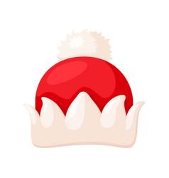 santa hat icon christmas clothing traditional vector image