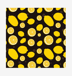 seamless pattern with fresh lemons vector image
