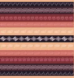 Seamless tribal texture boho borders vector