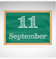 September 11 day calendar school board date vector