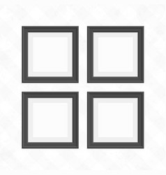 Set of black square frames vector
