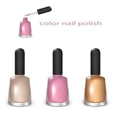 Set of color nail polish vector