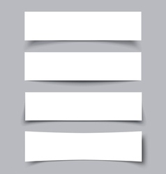 Set of Paper Banners with shadows vector