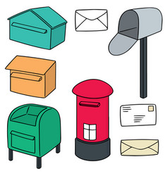 Set of postbox vector