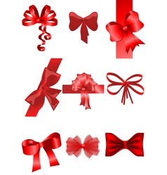 set of ribbon vector image