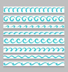 set of wavy border ornaments vector image