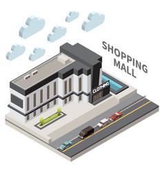 Shopping mall composition vector