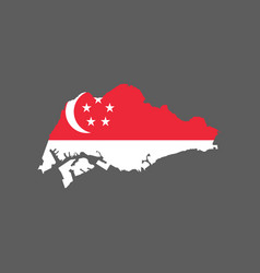 Singapore flag and map vector