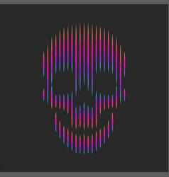 Skull artwork fashion t-shirt print emblem vector
