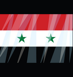 State flag of syria vector