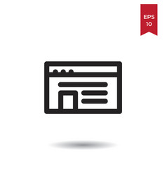 text icon vector image