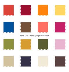 trendy color scheme by plain color patches vector image
