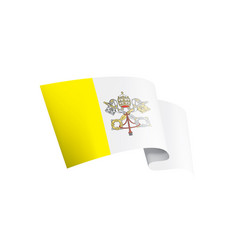 vatican flag on a white vector image