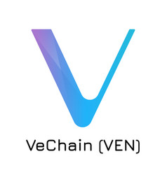 vechain ven crypto coin ic vector image