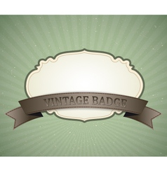 Vintage badge vector