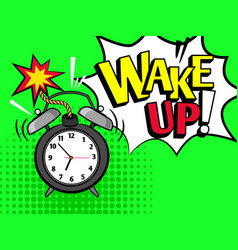 wake up pop art style vector image