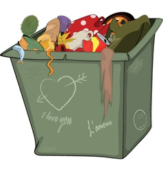 Waste container Cartoon vector