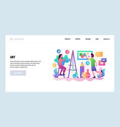 Web site design template art school vector