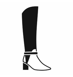 Women high boots icon simple style vector