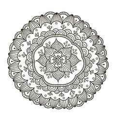 Beautiful Deco Floral Mandala vector image