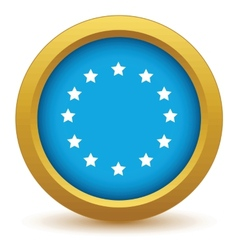 Gold European Union icon vector image