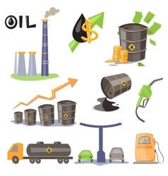Oil Production Infographic Elements vector image vector image
