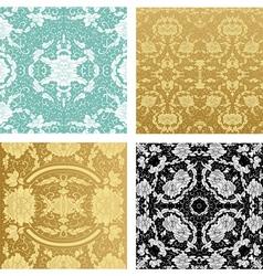 ornamental backgrounds set vector image vector image