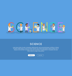 science banner science alphabet vector image