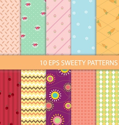 Set of Sweety Graphic Pattern vector image